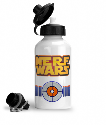 Nerf Wars Star Wars Logo Design Darts and Target Aluminium Sports Water Bottle